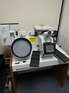 Metallograph Inverted Microscope Leco Neophot 32 Five Objectives As Is lob