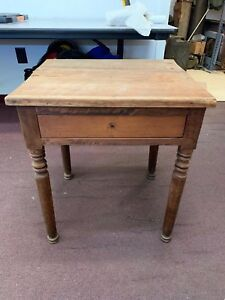 Antique Wood Side End Table