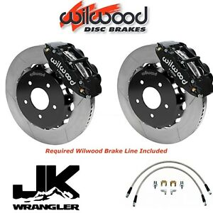 Wilwood Front Superlite Big Brake Kit Brake Line 2007 2017 Jeep Wrangler Jk