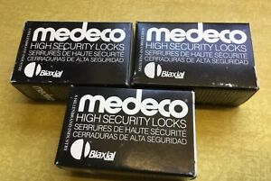 3 New Medeco Security Padlock Cylinder Lock Biaxial High Security 2 Keys