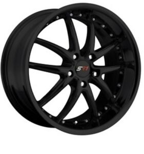 Sr1 Gloss Black Spyder R Corvette Wheels Fits 1997 2013 C6 Base C5 18x8 5 19x10