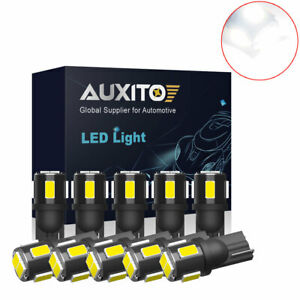 10x Waterproof 194 2805 168 Led Light Bulb 921 White 6smd For Honda Nissan Car C