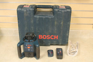 Bosch Grl250hv Self Leveling Rotary Laser Level Lr30 Receiver Pre owned