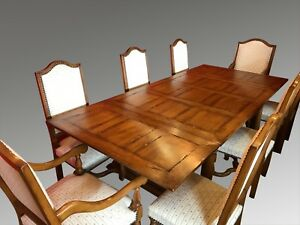 Fantastic Designer Art Deco Style Oak Dining Set Pro French Polished