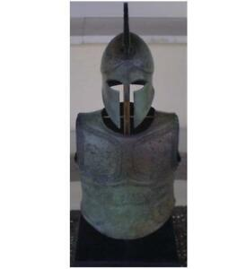 Talos Artifacts Greek Spartan Corinthian Helmet Armor Antique Style Bronze It