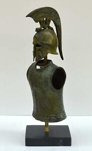 Greek Spartan Corinthian Small Helmet Armor Antique Style Pure Bronze Item
