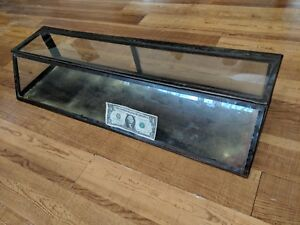Gorgeous Antique Store Display Counter Top Display Case Metal Glass With Doors