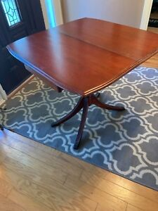Antique Good Quality Oak Table Desk Dinning Room Table Folds Down