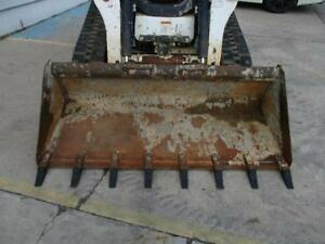 Bobcat 74 Low Profile Bucket W teeth For Skid Steer Loaders Ssl Quick Attach