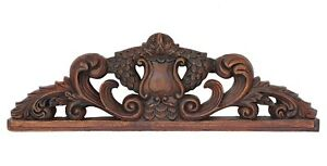 19th Century French Louis Xvi Style Wooden Carved Pediment