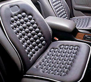 Black Seat Cushion Magnetic Therapy Driver Massage Cars Suv Trucks Set Of 2