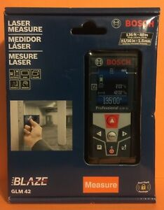 Bosch Glm 42 Laser Measure Full color Display Glm42 Brand New Free Ship