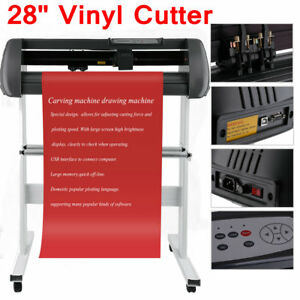 28 Vinyl Cutter Sign Cutting Plotter W Stand Design Cut Printer Sticker Usa