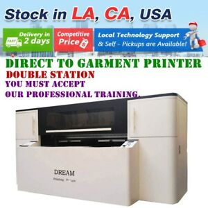 110v Two Station Direct To Garment Printer With Industrial Printhead Panasonic