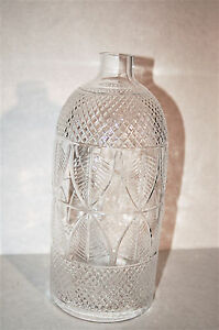 Vintage Art Deco Pressed Glass Candle Lamp Hurricane Chimney Sconce Shade 12