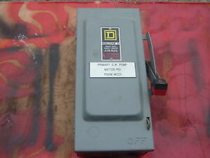 31 Used Square D 30 Amp Breaker Box No Fuses