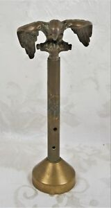 Vintage Brass Bald Eagle Flag Pole Topper Finial American Art Deco