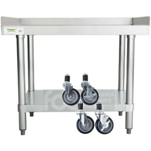 24 X 30 Heavy Equipment Stand W Casters Stainless Steel Work Table Commercial