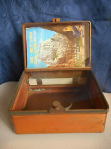 Antique Corina Larks Cigar Humidifier Cabinet Store Display Case Vintage Glass