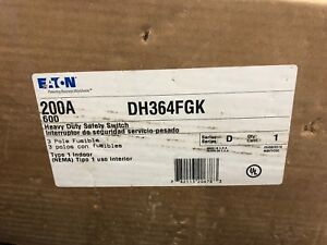 Eaton Safety Switch Dh364fgk 200 Amp 600 Volt Fusible Disconnect
