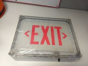 Hubbell dual lite Single Face Led Exit Sign Sewlsrwe