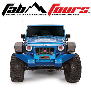 Fab Fours Front Full Width Fender Flare Set W Base Fender For 2007 2018 Jeep Jk