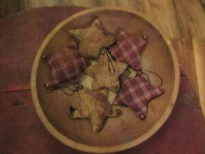 Primitive Stuffed Star Christmas Ornaments 6