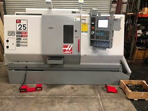 Haas tl 25 Cnc Lathe Turning Center C Axis Live Tooling Sub Spindle gmt 1743