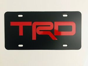 Toyota Trd Racing Vanity License Plate