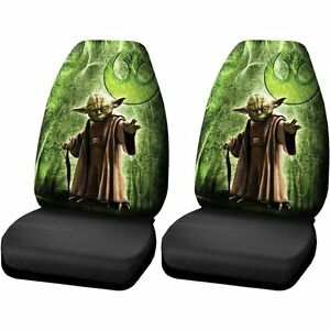 New Disney Star Wars Master Yoda High Back Seat Covers Universal Fit Set Of 2