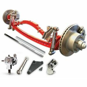1935 1941 Ford Super Deluxe Drilled Solid Axle Kit Cross Tube Street Rod