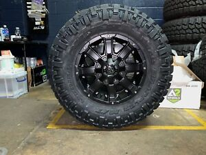 18x9 Mayhem Chaos Wheels 35 Nitto Mt Tires Package 6x139 7 Toyota Tacoma