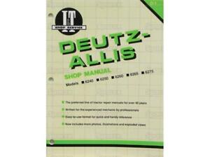 Deutz allis 6240 6250 6260 6265 6275 Tractor Shop Service Manual Book I