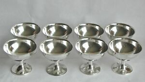Wallace Sterling Silver Champagne Sherbet Goblets 15 No Monogram Lot Of 8