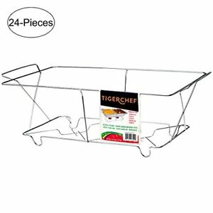 Tigerchef Tc 20537 Buffet Chafer Food Warmer Chrome Wire Frame Stand Full Size