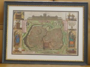Map Of Jerusalem Solomon S Temple Bastiaan Stoopendaal 1688