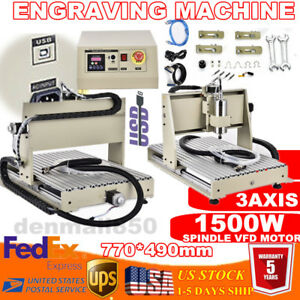 Usb Router Engraver Milling Machine Engraving Drilling 3 Axis 1500w 6040 Desktop