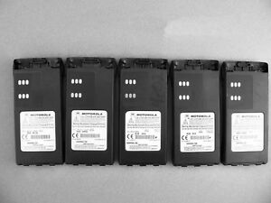 Five Motorola Hnn9013d Li ion Batteries Ht750 Ht1250 Pr860