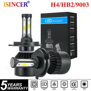 2pcs H4 9003 Hb2 Cree Led Headlight Kit 1500w 225000lm 6000k High Lo Beam Bulbs