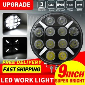 9inch Round Led Work Light 120w Spot Light Driving Headlamp Offroad For Suv Atv