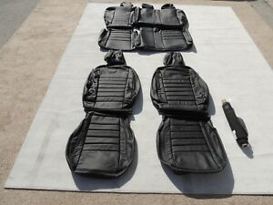 Leather Seat Covers Interior Skins Fits Ford Escape S 2013 2014 Black M144