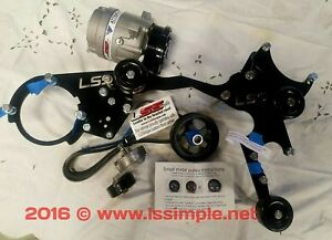 Lsa Supercharger Truck Accessory Relocation Kit Lss Ac Kit 07 Up Tru Water Pum
