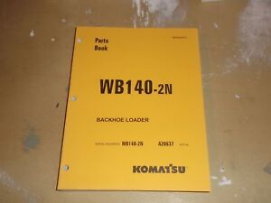 Komatsu Wb140 2n Backhoe Loader Parts Catalog Manual