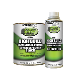 Super Fill High Build 2k Urethane Primer Black Quart Kit Ss 2790b Q Ss 2790a 8