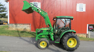 2015 John Deere 4066r 4x4 Compact Loader Tractor W Cab 66hp Diesel Hydrostatic