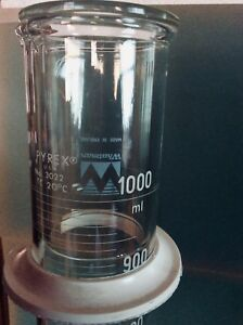 Pyrex 3022 1000ml Or 2000ml Graduated Cylinder With Pourout Whatman Insert