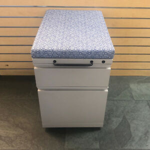 Herman Miller Mobile Drawer Pedestal Upholstered Cushion Seat And Hand Grip