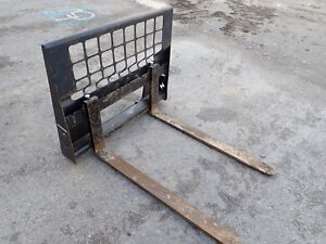 Oem Bobcat 48 Pallet Forks For Skid Steer Loaders Ssl Quick Attach