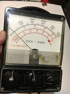 Vintage Snap On Tools Corporation Tach Dwell Meter Mt 715