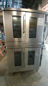 Hobart Natural Gas Double Stack Convection Oven Full Bakery Size